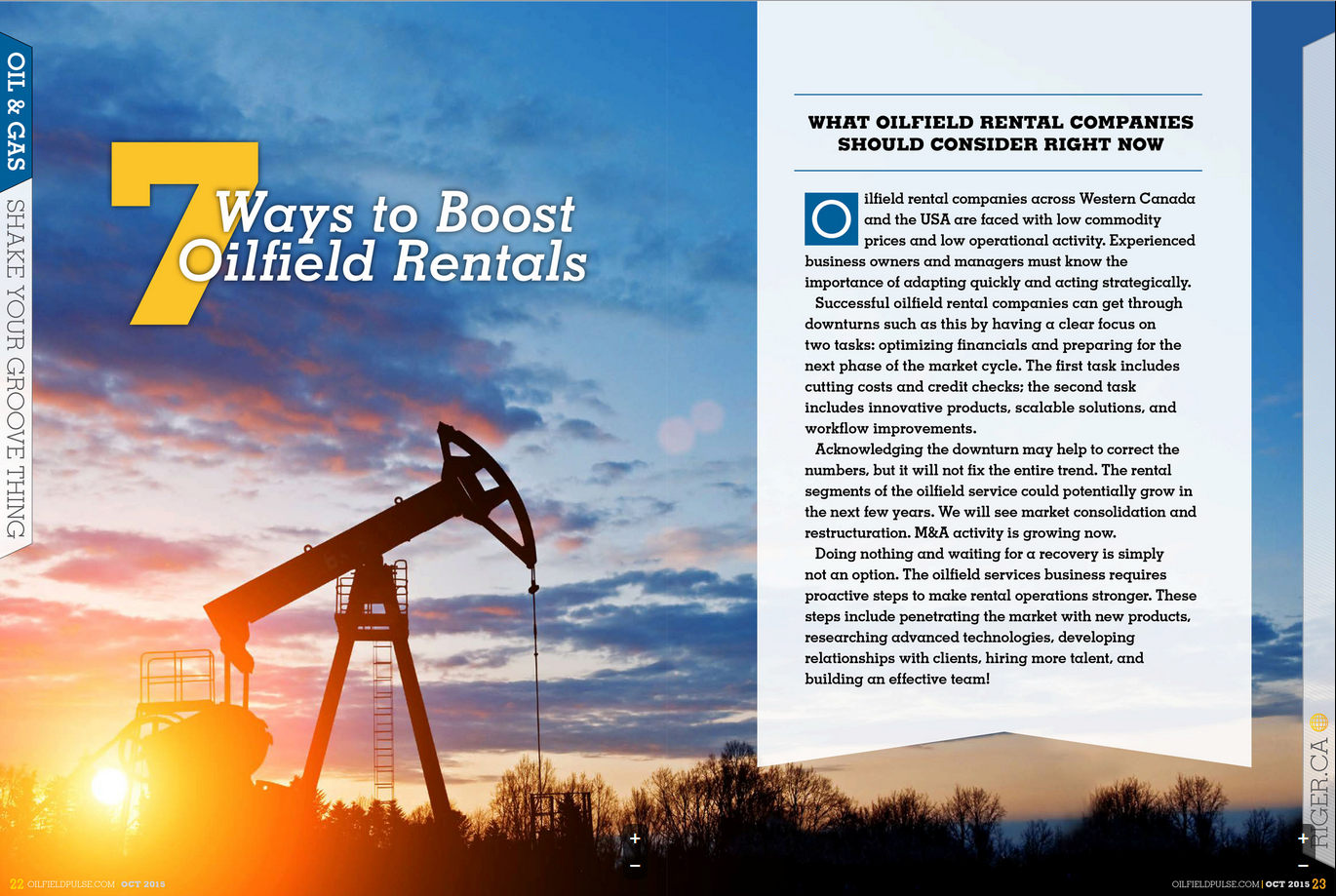 What Oilfield Rental Companies Should Consider Now